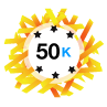 50K Karma - Has at least 50,000 karma points.